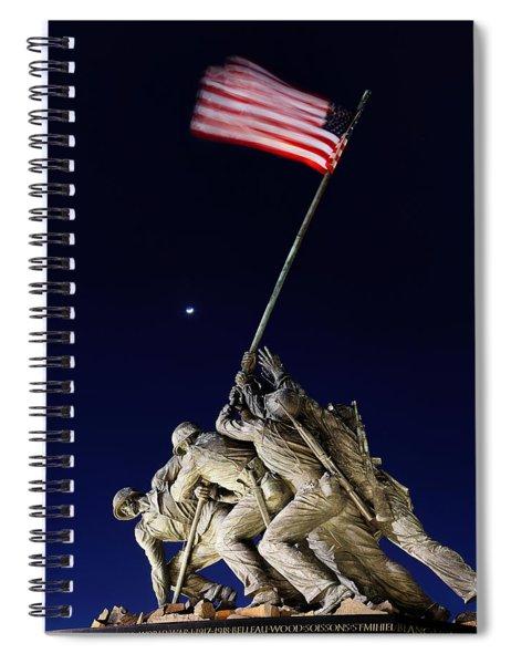 Iwo Jima Memorial At Dusk Spiral Notebook