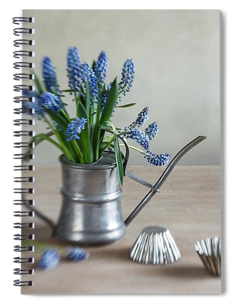Still Life With Grape Hyacinths Spiral Notebook