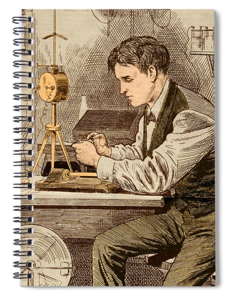 Thomas Edison  Spiral Notebook