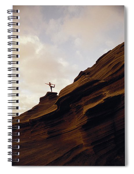 Yoga At Sunrise Spiral Notebook