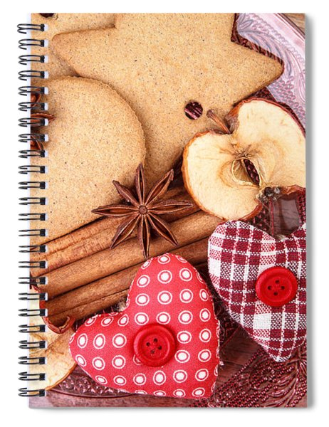 Christmas Gingerbread Spiral Notebook by Nailia Schwarz