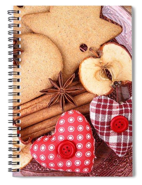 Christmas Gingerbread Spiral Notebook by Nailia Schwarz