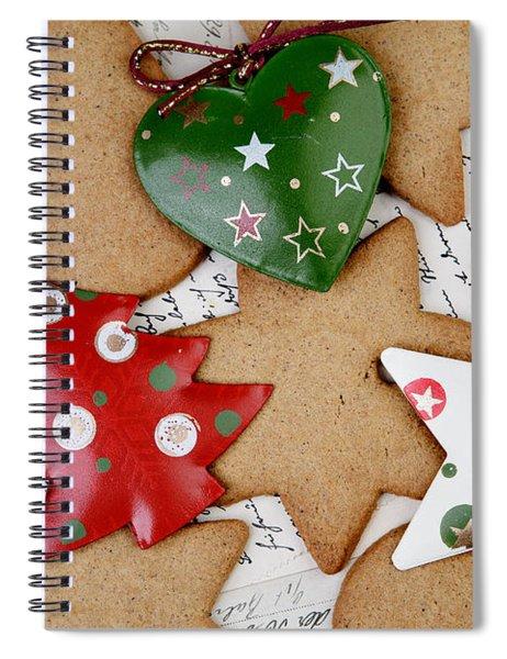 Christmas Gingerbread Spiral Notebook