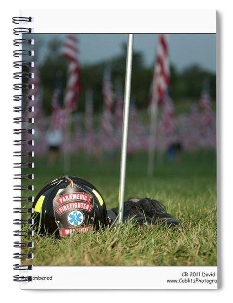 911 Fallen Remembered Spiral Notebook