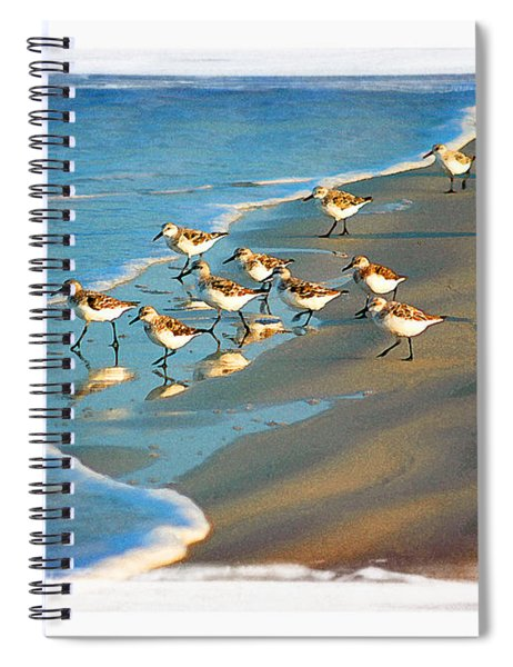 A Bevy Of Pipers Spiral Notebook