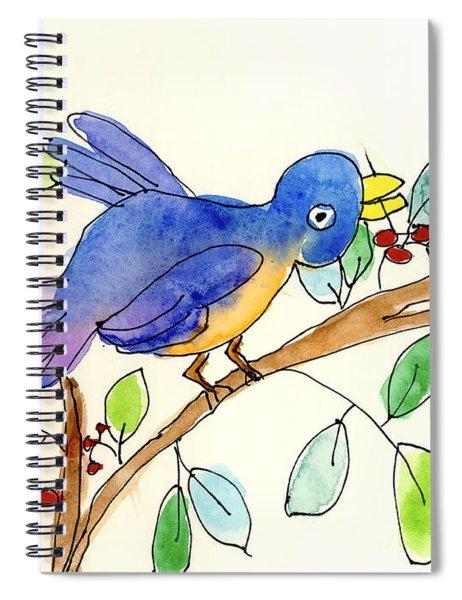 A Bird Spiral Notebook