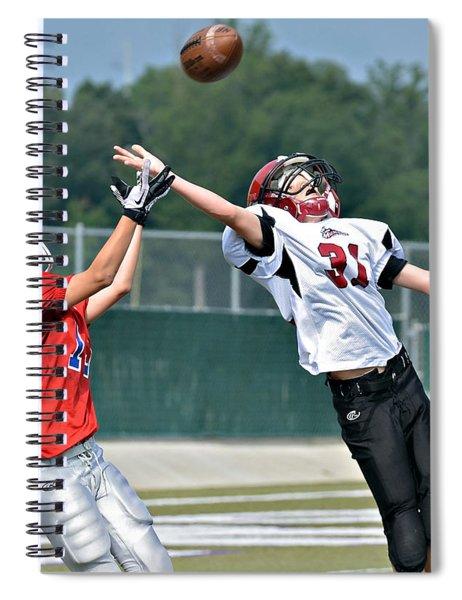 A Pass For The Touchdown Spiral Notebook