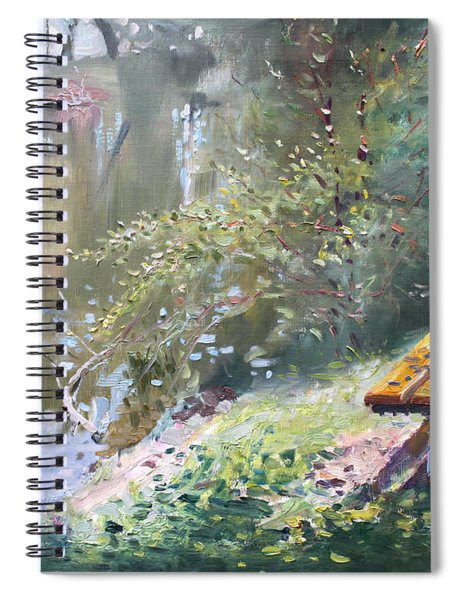 A Rose On The Bench Spiral Notebook