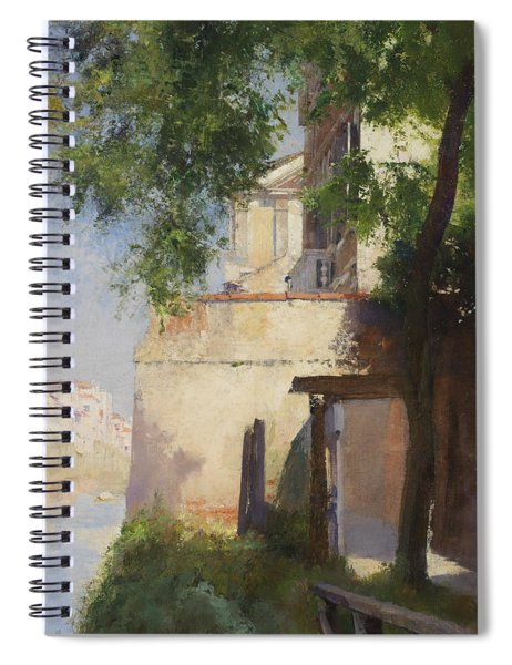 A View Of Venice From A Terrace Spiral Notebook