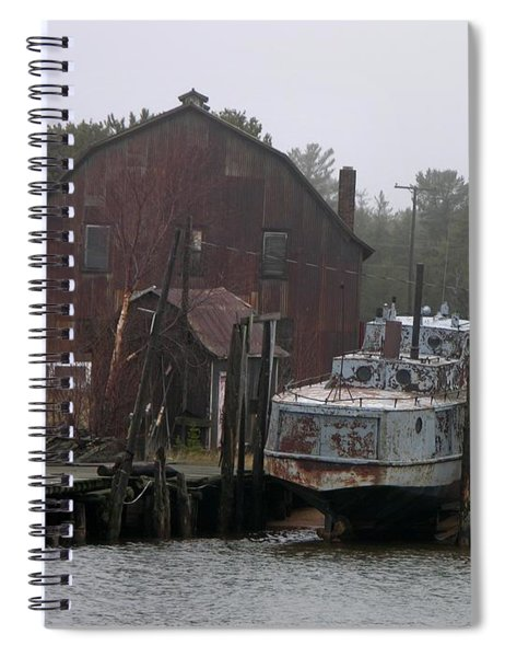 Abandoned Fishing Boat Spiral Notebook