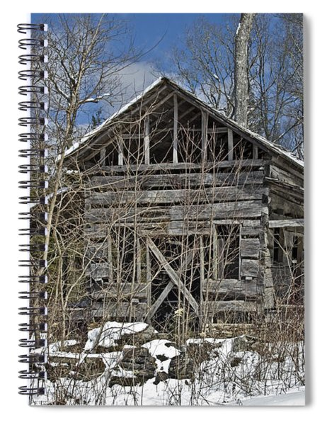 Abandoned House In Snow Spiral Notebook