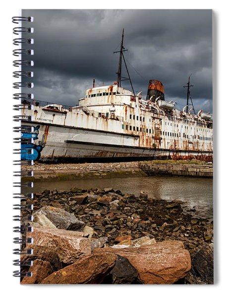 Abandoned Ship Spiral Notebook