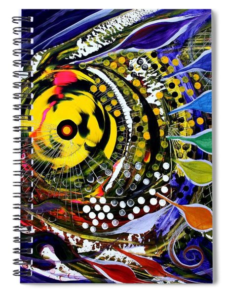 Abstract Busy Bee Fish Spiral Notebook