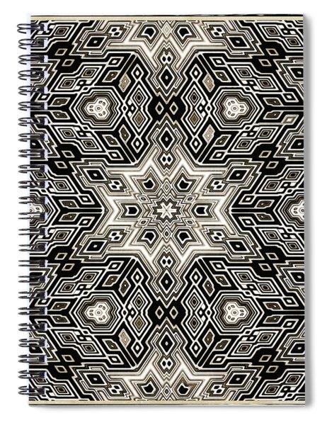 Abstract Cubes Spiral Notebook