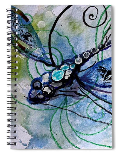 Abstract Dragonfly 10 Spiral Notebook