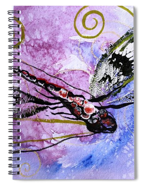 Abstract Dragonfly 6 Spiral Notebook