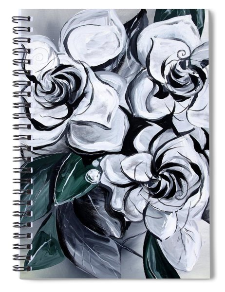 Abstract Gardenias Spiral Notebook