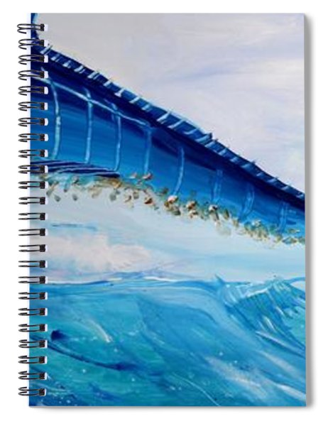 Abstract Marlin Spiral Notebook