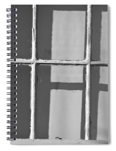 Abstract Window In Light And Shadow Spiral Notebook