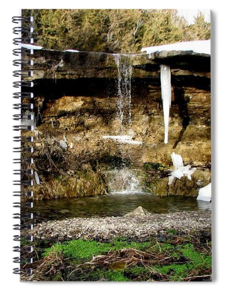 Alcove Spring And Waterfall Spiral Notebook