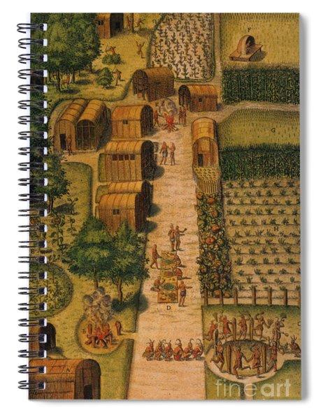 Algonquian Village 1585 Spiral Notebook