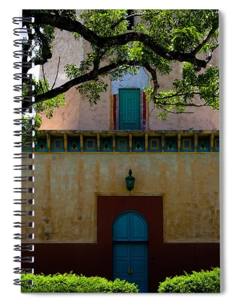 Spiral Notebook featuring the photograph Alhambra Water Tower Doors by Ed Gleichman