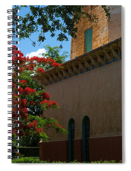 Spiral Notebook featuring the photograph Alhambra Water Tower Windows And Door by Ed Gleichman