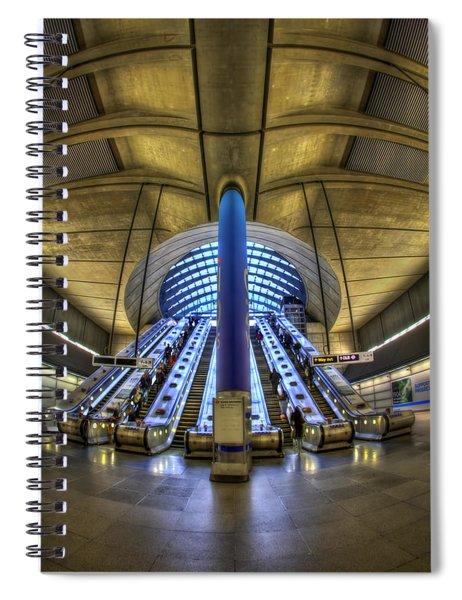 Alien Landing Spiral Notebook