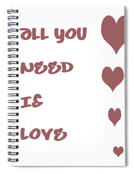 All You Need Is Love - Plum Spiral Notebook