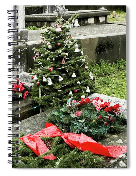 Spiral Notebook featuring the photograph Always Home For Christmas by Lorraine Devon Wilke