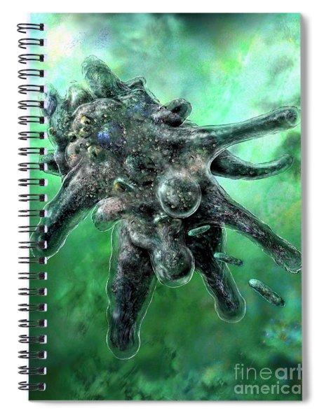 Amoeba Green Spiral Notebook