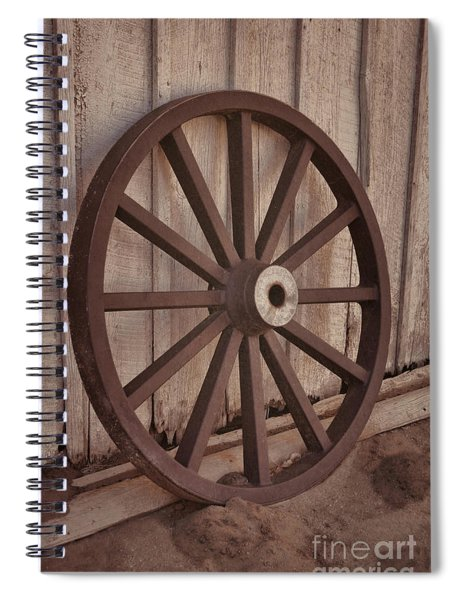 An Old Wagon Wheel Spiral Notebook