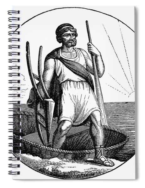 Ancient Briton Coracle Spiral Notebook