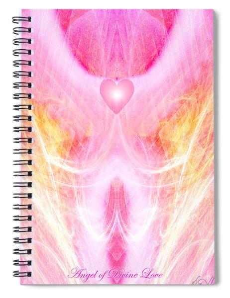 Angel Of Divine Love Spiral Notebook