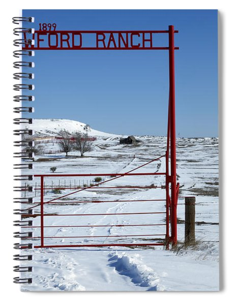 Another Snow On Crawford Ranch Spiral Notebook