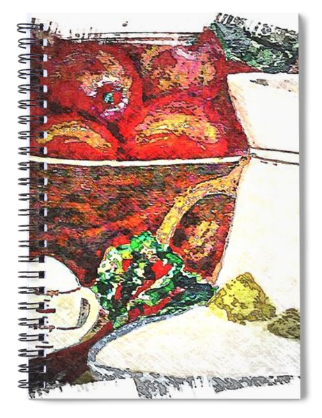 Apple And Rhubarb Pie Spiral Notebook
