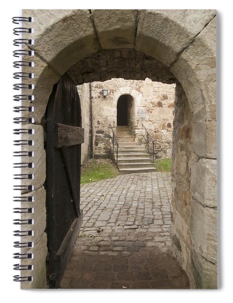 Archway - Entrance To Historic Town Spiral Notebook