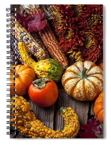 Autumn Still Life Colors Spiral Notebook by Garry Gay