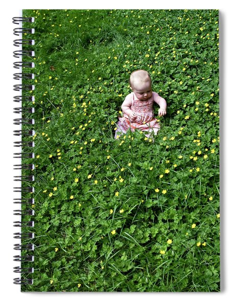 Baby In A Field Of Flowers Spiral Notebook