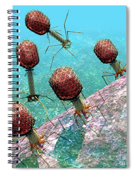 Bacteriophage T4 Virus Group 1 Spiral Notebook