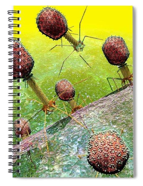 Bacteriophage T4 Virus Group 2 Spiral Notebook