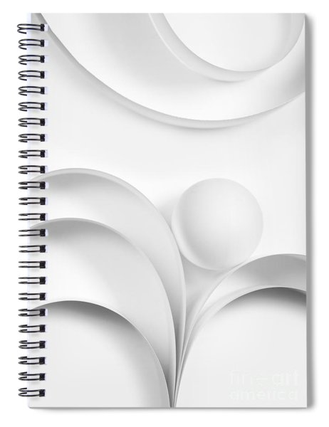 Ball And Curves 02 Spiral Notebook