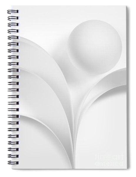 Ball And Curves 06 Spiral Notebook
