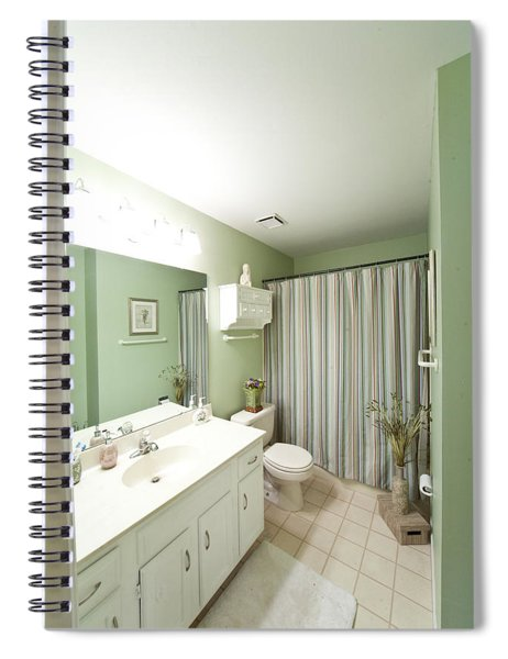 Bath Wide Angle Shot Spiral Notebook
