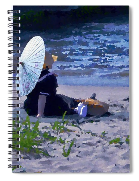 Bather By The Bay - Square Cropping Spiral Notebook