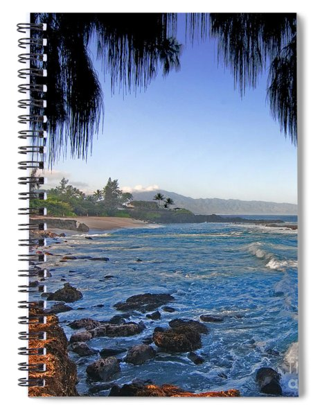 Beach On North Shore Of Oahu Spiral Notebook