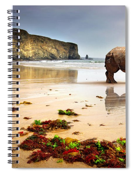 Beach Rhino Spiral Notebook