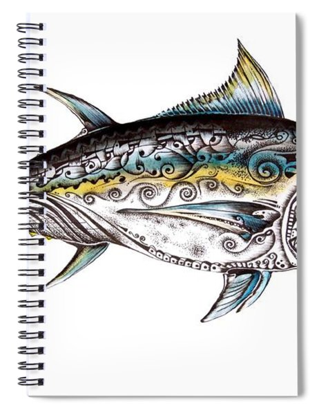 Beautiful Blue Fin Spiral Notebook