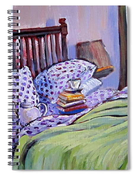Bed And Books Spiral Notebook