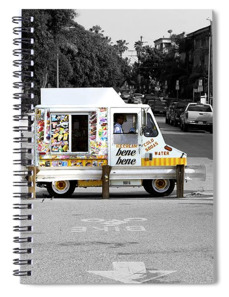 Spiral Notebook featuring the photograph Bene Bene by Lorraine Devon Wilke